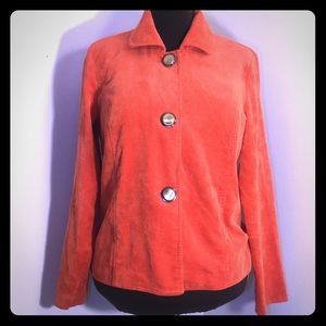 VINTAGE Orange Corduroy Jacket